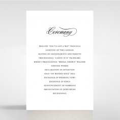 Paper Timeless Romance wedding stationery order of service card