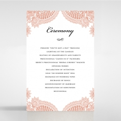 Regal Charm Letterpress order of service ceremony stationery card design
