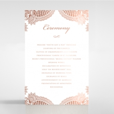 Regal Charm Letterpress with foil order of service stationery card design