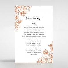 Rose Romance Letterpress order of service ceremony stationery card