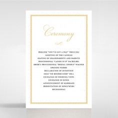Royal Lace order of service wedding invite card design