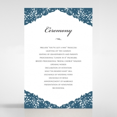 Royal Prestige wedding stationery order of service invite
