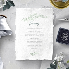 Simple Elegance order of service ceremony stationery invite card