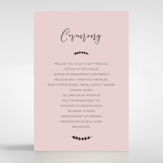 Sweet Romance order of service invitation card