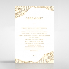 Woven Love Letterpress with foil order of service stationery invite