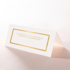 Black Doily Elegance with Foil wedding stationery place card