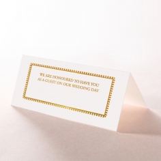 Blooming Charm with Foil wedding venue table place card stationery item