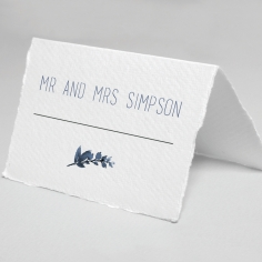 Blue Wonderland place card stationery