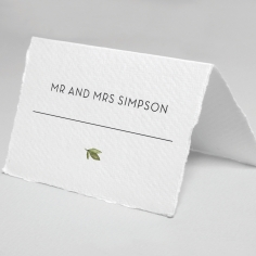 Botanic Romance wedding place card design