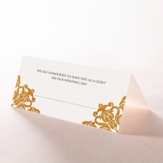 Divine Damask with Foil reception place card stationery item