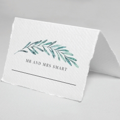 Modern Garland reception table place card stationery