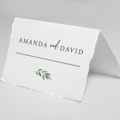 Modern Greenery place card