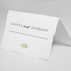 Olive Leaves wedding venue table place card stationery item