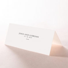Paper Diamond Drapery reception table place card