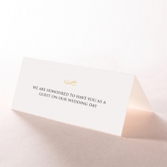 Quilted Letterpress Elegance wedding reception place card stationery