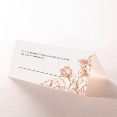Rose Romance Letterpress wedding reception place card stationery design