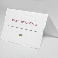 Vines of Love wedding place card stationery