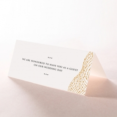 Woven Love Letterpress wedding venue place card