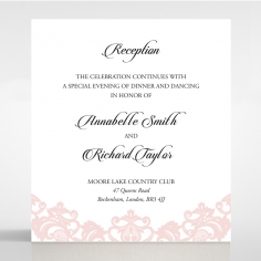 Baroque Pocket reception wedding card