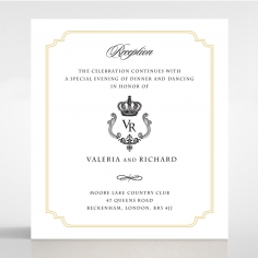 Black Victorian Gates reception enclosure invite card