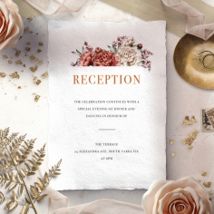 Blossoming Love reception enclosure card design