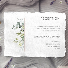 Botanic Romance wedding reception invitation