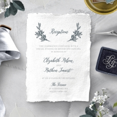Castle Wedding wedding stationery reception enclosure card design