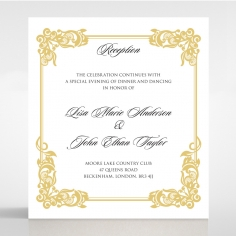 Divine Damask reception wedding invite card design
