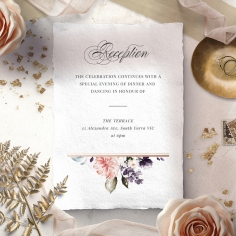 Enchanting Florals reception enclosure card