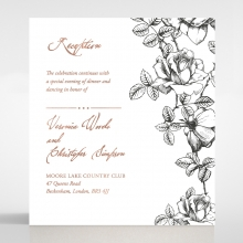 English Rose In Black White And Rose Gold Premium Paper Fr
