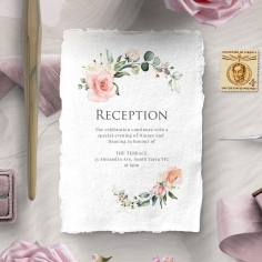 Garden Party reception enclosure invite card