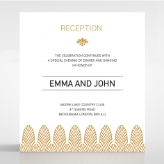 Gilded Decadence wedding reception invitation card