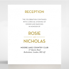 Gold Chic Charm Paper reception enclosure card design