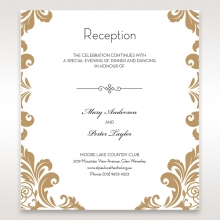 trifold pocket invitation in pearl cream monogrammed band