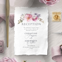Happily Ever After reception enclosure invite card design