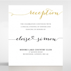 Infinity reception stationery