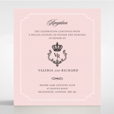 Ivory Victorian Gates reception stationery