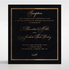Lux Royal Lace with Foil wedding reception invitation card