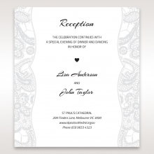 luxurious-embossing-with-white-bow-wedding-reception-invitation-card-DC13304