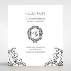 Paper Aristocrat wedding reception card design