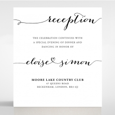 Paper Infinity reception stationery invite card design