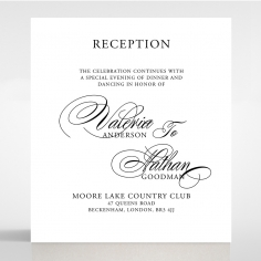 Paper Timeless Romance reception enclosure stationery card