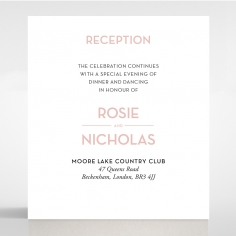 Pink Chic Charm Paper reception enclosure card