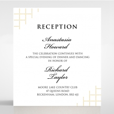 Quilted Letterpress Elegance reception invite