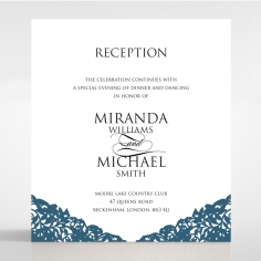 Royal Prestige wedding stationery reception invitation card