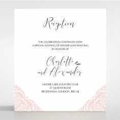 Rustic Elegance wedding stationery reception invitation card design
