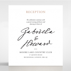 Sunburst wedding reception enclosure card design