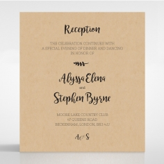 Sweetly Rustic wedding stationery reception card design