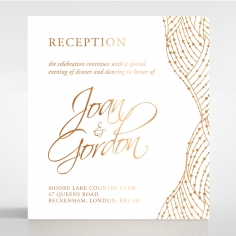 Woven Love Letterpress with foil reception invitation card