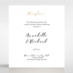 Written In The Stars - Navy wedding stationery reception enclosure invite card